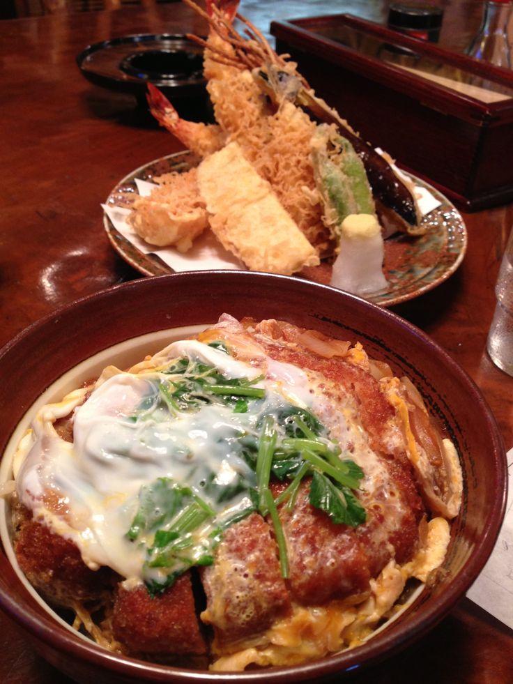 Katsudon and Tenpura カツ丼とてんぷら