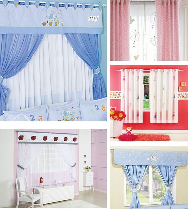 94 best cortinas images on pinterest for Cortinas para cuartos infantiles