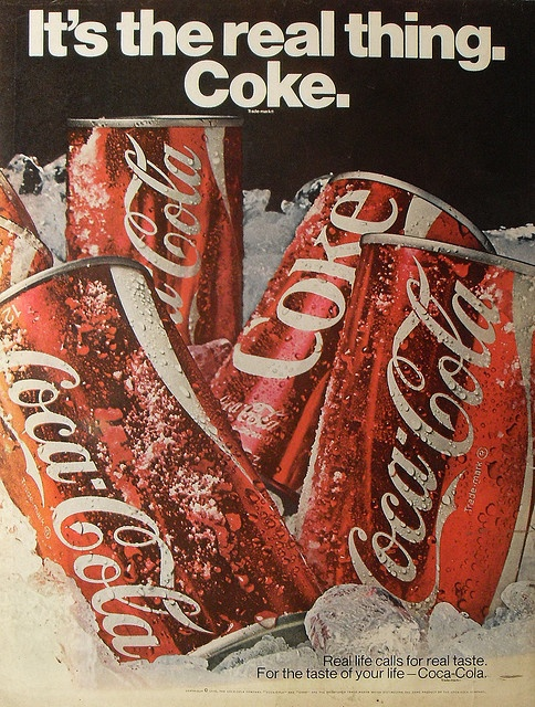 1970 Coca Cola Vintage Soda COKE Advertisement IT'S THE REAL THING