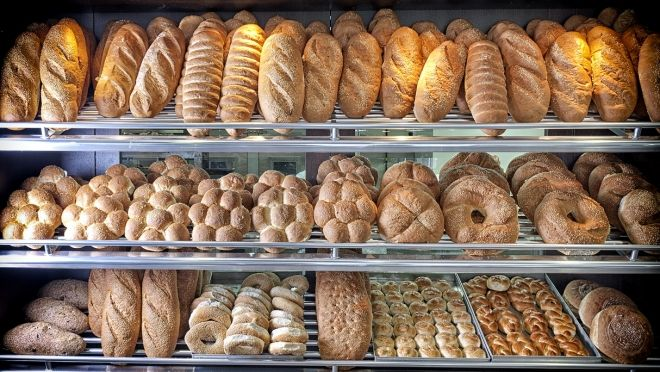 Artisan breads baked daily in our shop.