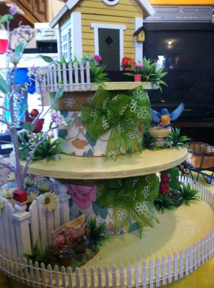 Cupcake stand spring bliss