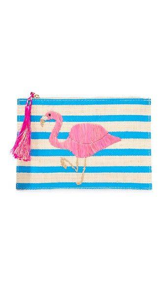 Kayu Flamingo Pouch