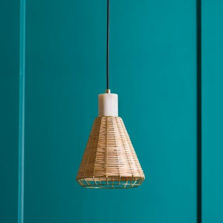 White marble and rattan shade graham green