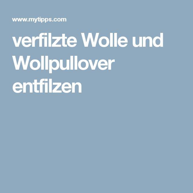 verfilzte Wolle und Wollpullover entfilzen