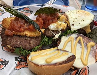 An excess of burger goodness as we try much of the menu at Bad Daddy's Burger Bar in Broomfield Colorado. And shakes. And dessert. Oh, so much good food... @baddaddysburger