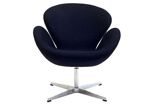 Antwerp Wing Chair, Black on OneKingsLane.com