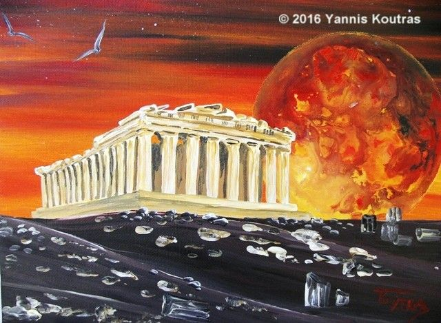 """Acrylic on Canvas"" Code: Parthenon by Yannis Koutras ""YannisArt"""