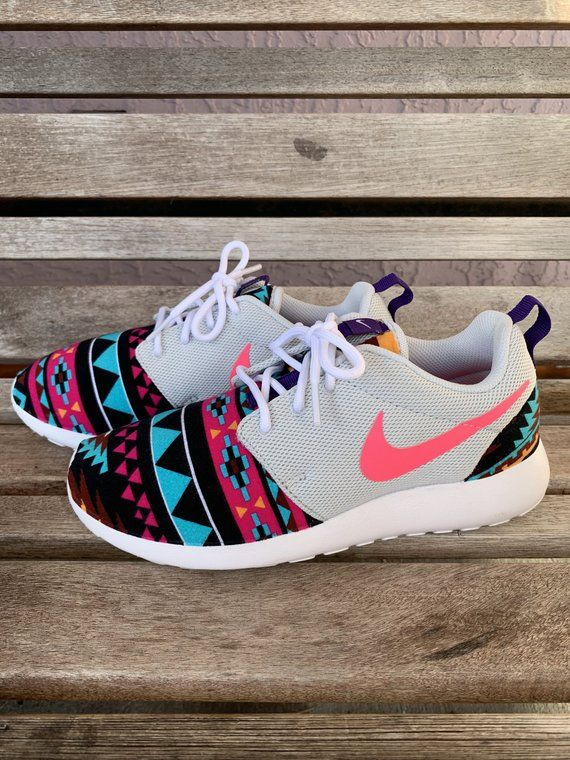 premium selection 85e12 79059 Womens Roshe Gray Pink Aztec Navajo Tribal Inspired Print in ...
