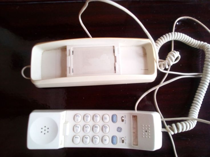 vintage general electric wall corded mountable phone - home wall telephone 1970s