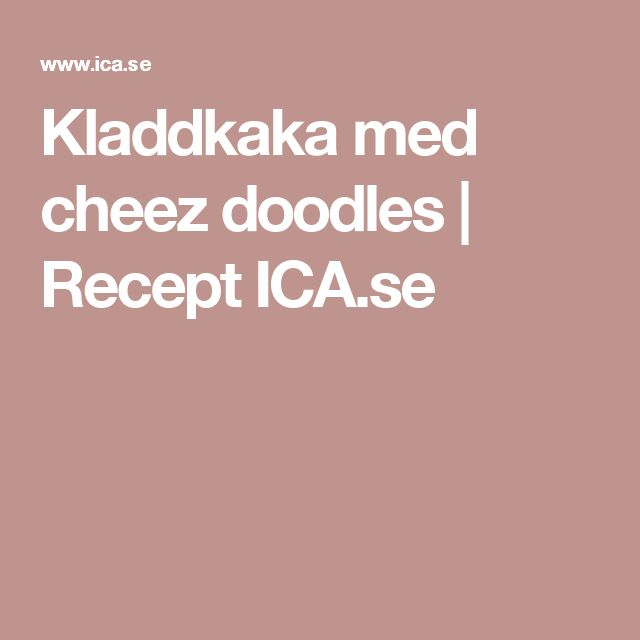 Kladdkaka med cheez doodles | Recept ICA.se