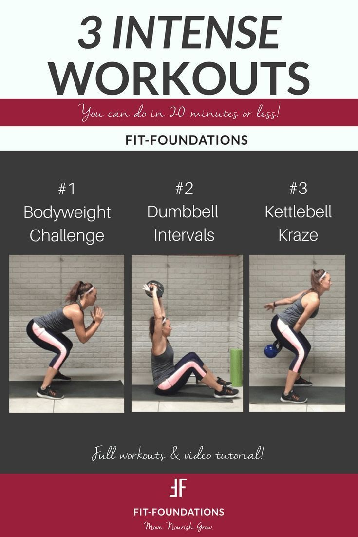 3 Quick Workouts You Can Do In 20 Minutes Or Less Home Workouts Bodyweight Workout Quick Workout Workout Intense Workout