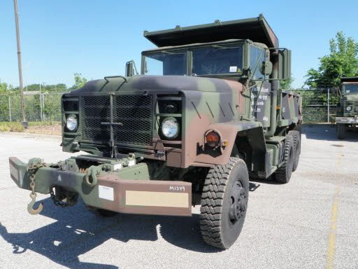 M930 Truck, Dump, 5 ton, 6x6: M929 truck with a winch