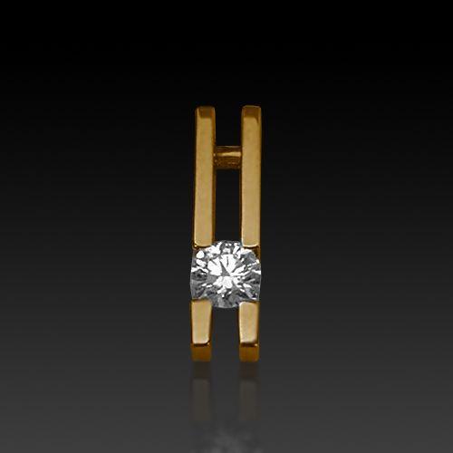yellow gold diamond channel set pendant