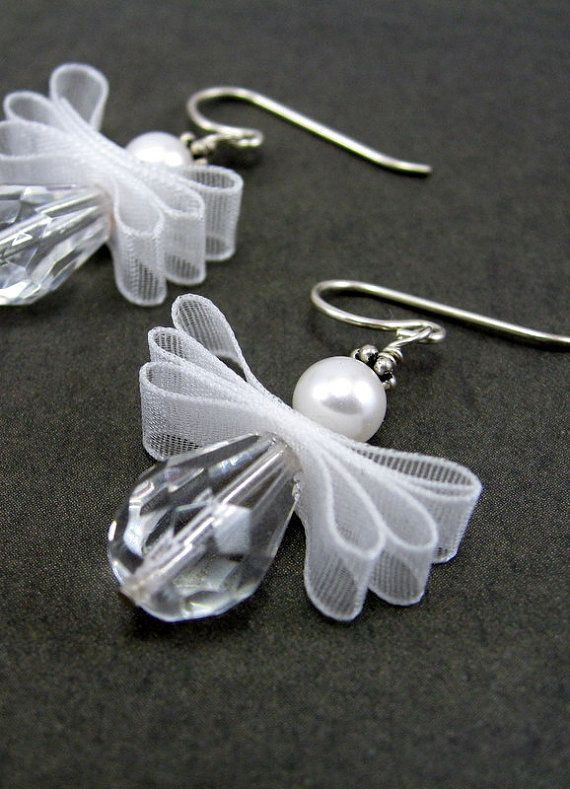 Angel Earrings...I think these would be cute christmas ornaments too.