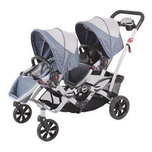 Kraft Tandem İkiz Bebek Arabası Açık Koyu Gri