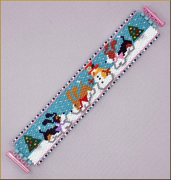 A Bet Christmas Peyote Pattern By Kristy Za Pinterest Beads Patterns és Bracelet