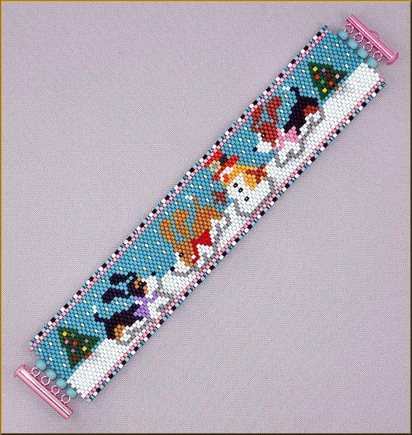 A Basset Christmas Peyote Pattern by Kristy Zgoda by Kristyz