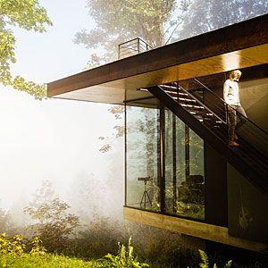 Dreamy modern cabin home | Praising glass | Sunset.com