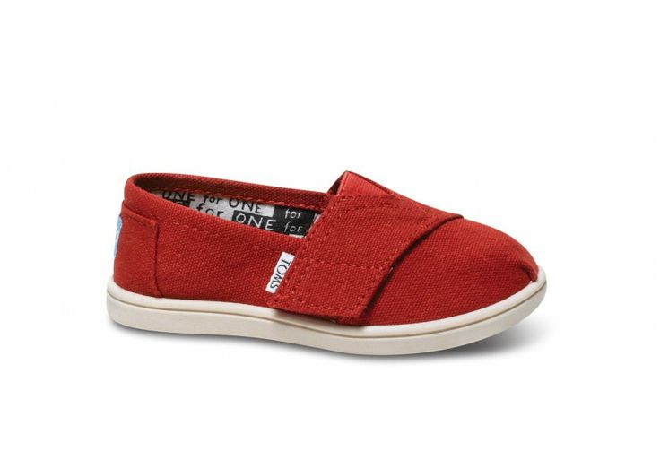 Red Canvas Tiny TOMS Classics || Start a Valentines Day tradition with a #OneforOne gift for the little ones