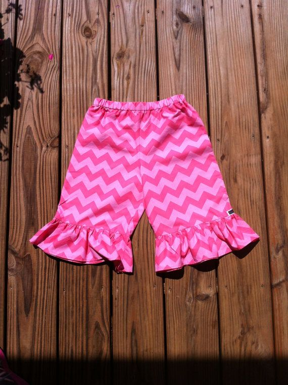 Girls Valentine Ruffle Pants Capris or knee by EverythingSorella, $24.50