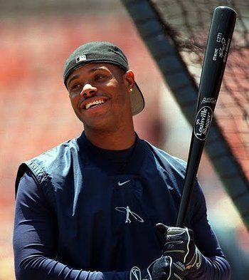 Ken Griffey Jr. ~ My favorite over all baseball player of all time. He had the sweetest swing and probably would have broken Hank Aarons Homerun record were it not for injury. A Great Person and a Hall of Famer.