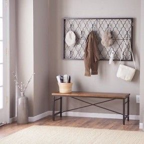 metal wall mounted coat rack foter