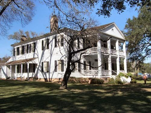 Liendo Plantation was built in 1853. Originally a Spanish land grant of 67,000 acres and one of Texas earliest cotton plantations, Near Hempstead, Waller County, Texas