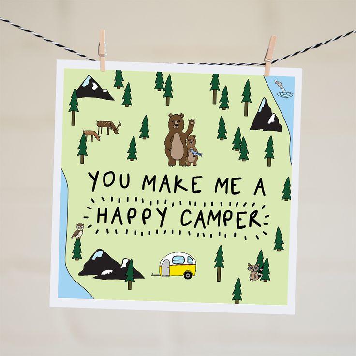 You Make me a Happy Camper Card | Relove SA
