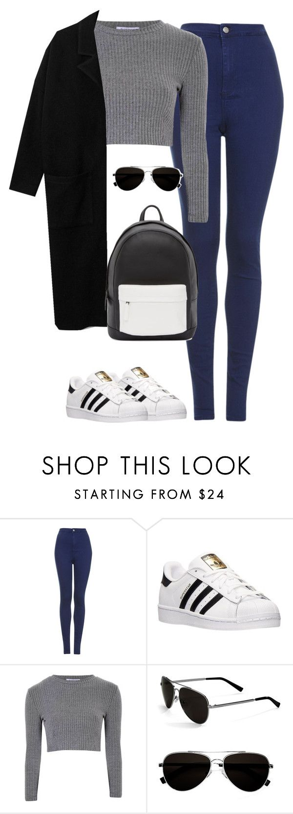 """Untitled #463"" by christyandnef on Polyvore featuring Topshop, adidas, Glamorous, Calvin Klein, PB 0110, women's clothing, women, female, woman and misses"