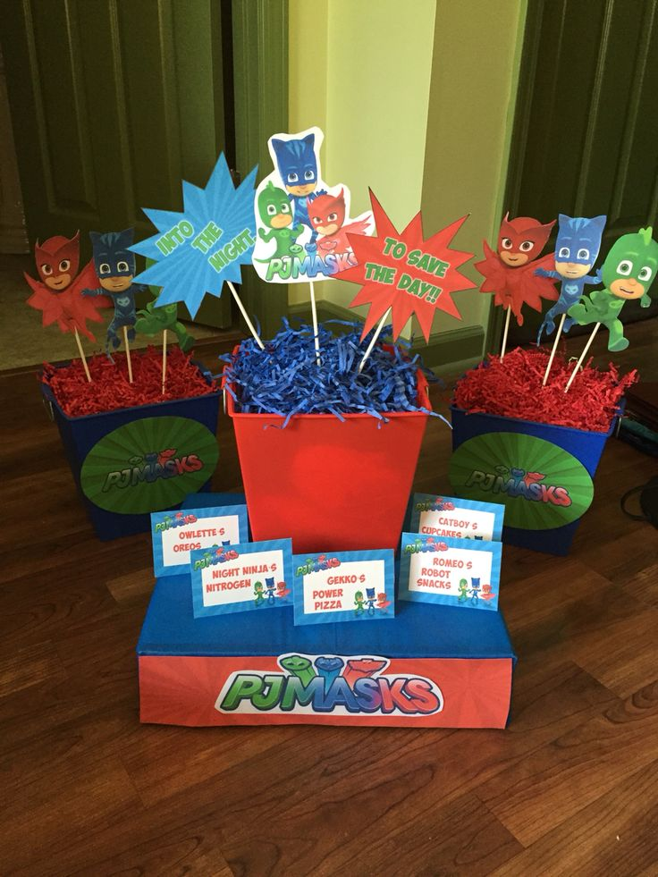 Pj masks birthday decoration ideas party ideas pinterest pj mask birthday decorations and pj for Decoration party