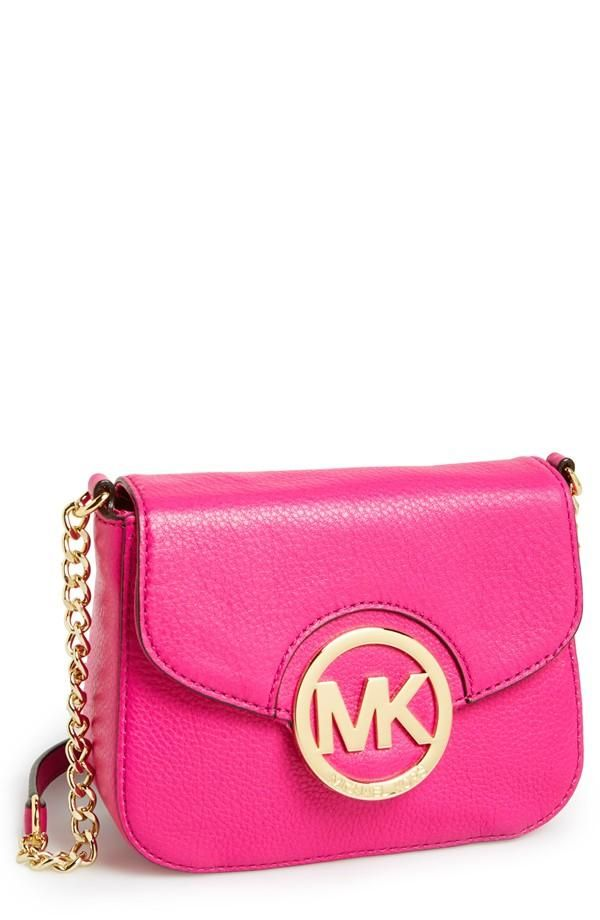 This bright pink Michael Kors crossbody will add a touch of fun to every outfit.