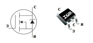 Параметры, цоколевка и аналоги транзистора IRF530NS - Справочник по импортным MOSFET транзисторам - Справочник - RadioLibrary