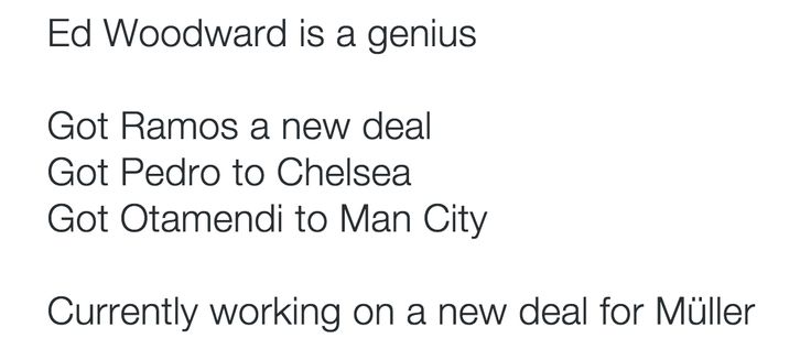 Ed Woodward is a genius