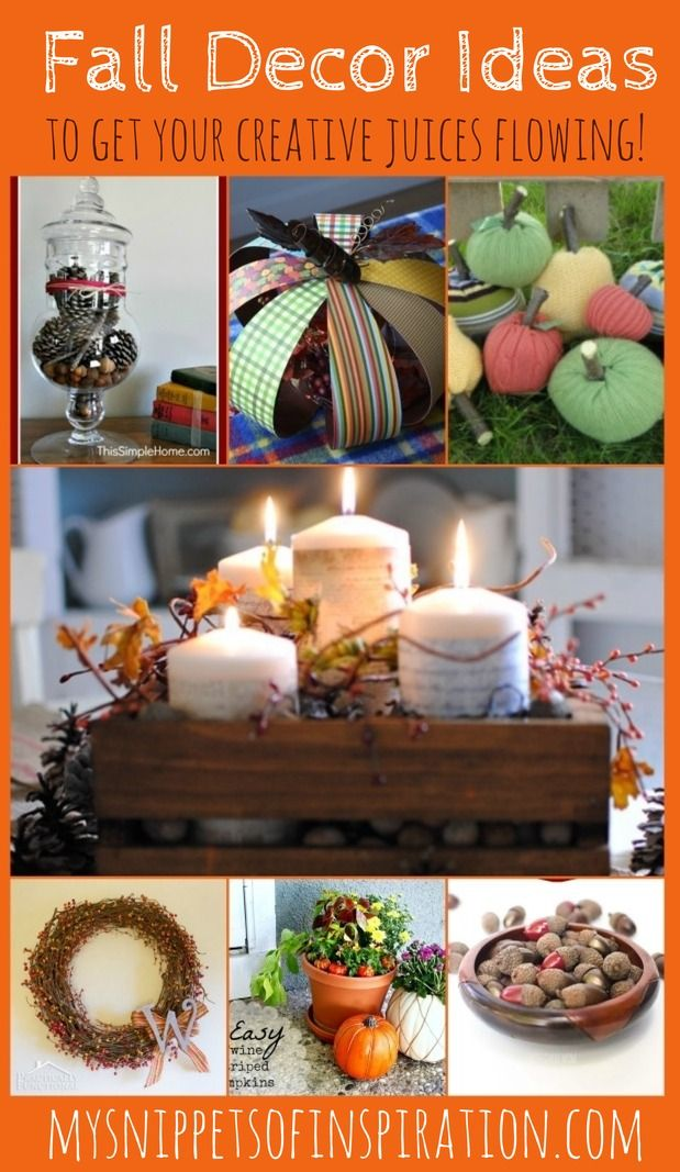 These are easy #crafts to spruce up your home as well as easy fixes to get your #home ready for #fall #autumn