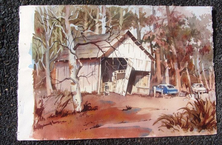 BEAUTIFUL VINTAGE CALIFORNIA WATERCOLOR PAINTING LISTED ARTIST #Impressionist