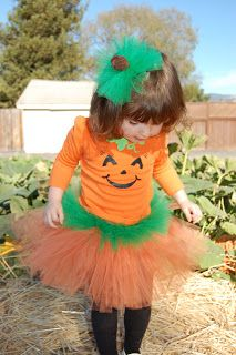 Pumpkin Princess from PinkieforPink- I wish my daughters were  young enough to still want to be a princess.