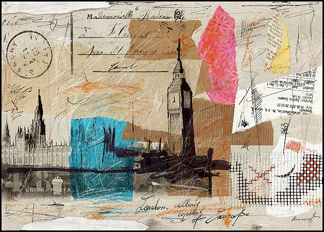 London - collage and mixed media Emanuel Ologeanu