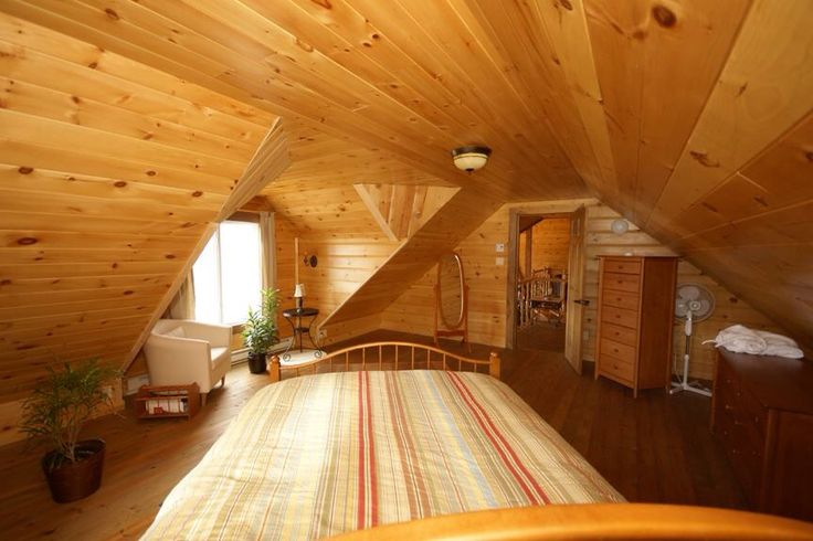 We feel rested just looking at this photo. Love this Timber Block Insulated log home bedroom! More at www.timberblock.com