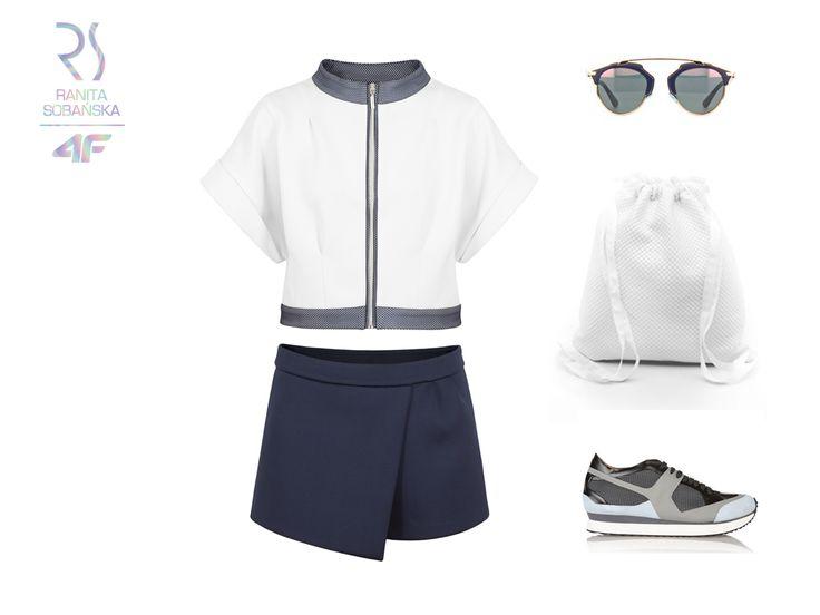 Na nowo zdefiniuj sportowy look wybierając wygodne spódnico-spodnie i kurtkę z opalizującym wykończeniem RSx4F! Na jaką okazję włożyłabyś taki set?