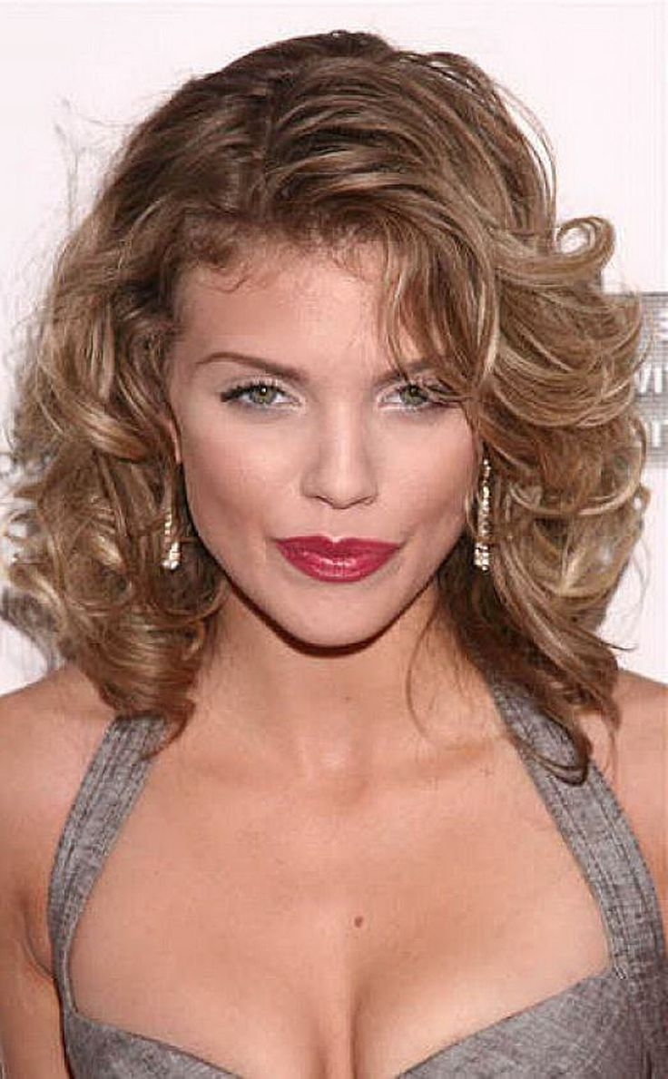 Mid Length Layered Hairstyles | Layered Mid Length Hairstyles With Side Bangs For Curly Hair Pics ...