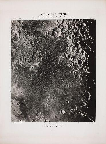MAURICE M. LOEWY und M. PIERRE PUISEUX    1833 - 1907 und 1855 - 1928       PHOTOGRAPHIE LUNAIRE. GUTTEMBERG - MER DE LA TRANQUILLITÉ - PLINE   1899