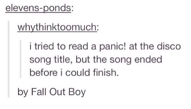 fall out boy panic at the disco tumblr - Google Search