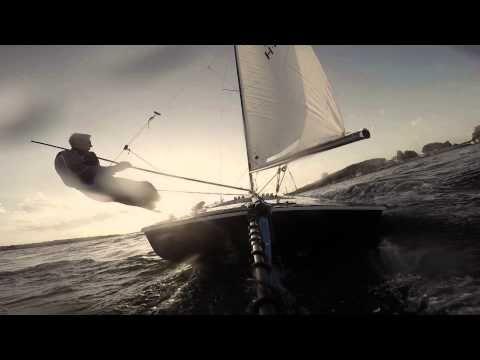 Contender Skiff sailing  #4 - hard work always pays off - YouTube