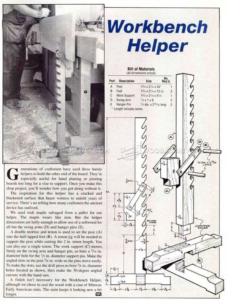 Making Workbench Helper - Workshop Solutions Plans, Tips and Tricks   WoodArchivist.com