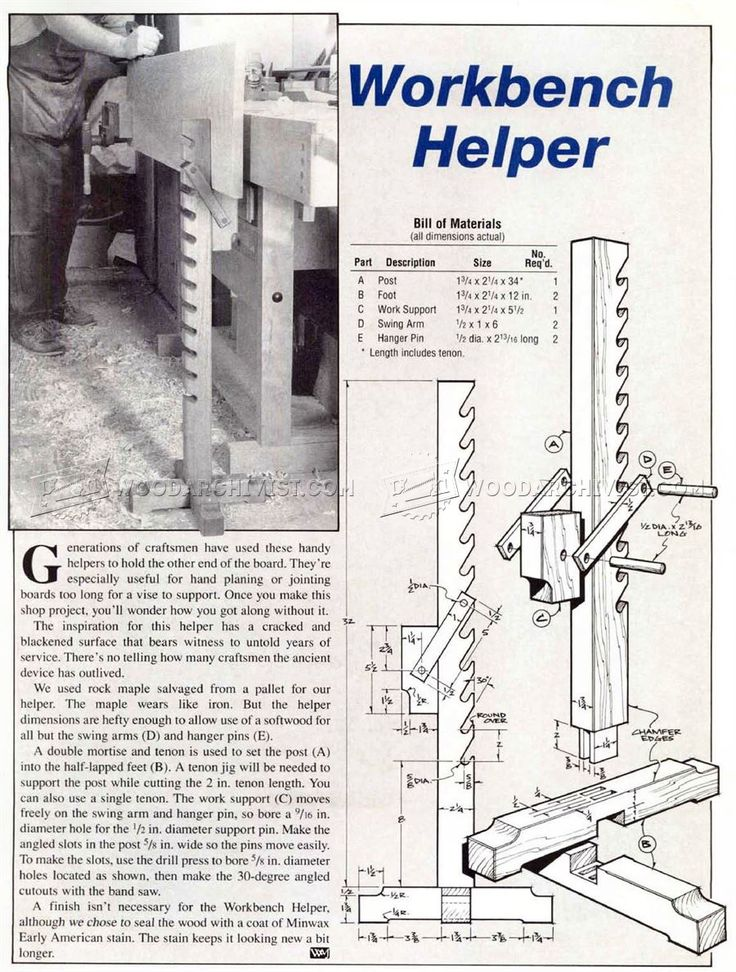 Making Workbench Helper - Workshop Solutions Plans, Tips and Tricks | WoodArchivist.com