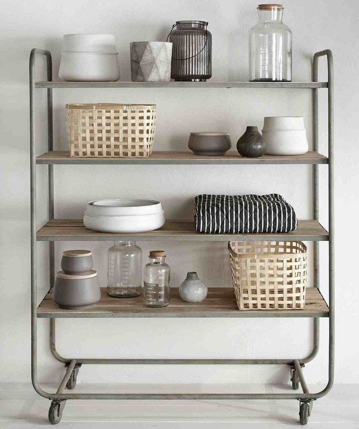 Kitchen Trolley Interior: Iron & Oak Trolley
