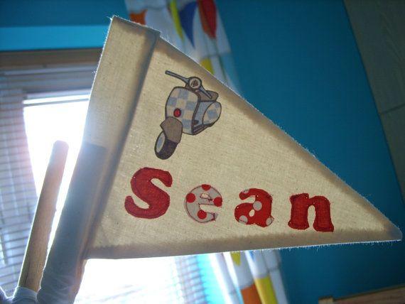 Teepee Pole Flags Personalise Kids Teepee Tents by TheTeepeeFairy