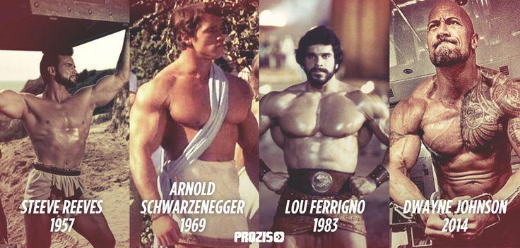 Arnold Schwarzenegger Vs Dwayne Johnson Body Pin by marty breedlove on ...