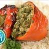 Gevulde paprika's met gemalen biefstuk, spinazie en bruine rijst - Recept | VTM Koken