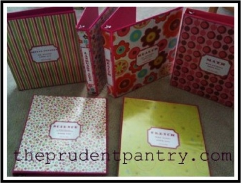 DIY Decorated Binder ~ adorable idea for the recipe binders I'm working on!